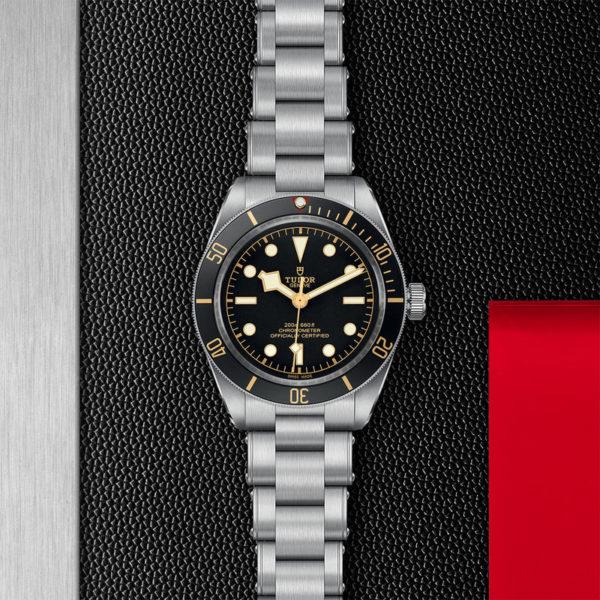 Relógio TUDOR Black Bay Fifty-Eight com Caixa em aço, 39 mm, bracelete em aço. Disposição de loja, estendido.