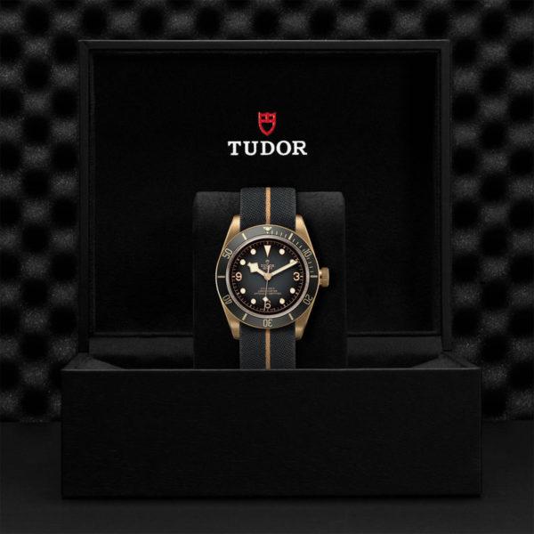 TUDOR Black Bay Bronze Watch with 43 mm bronze case, fabric strap. In presentation box.