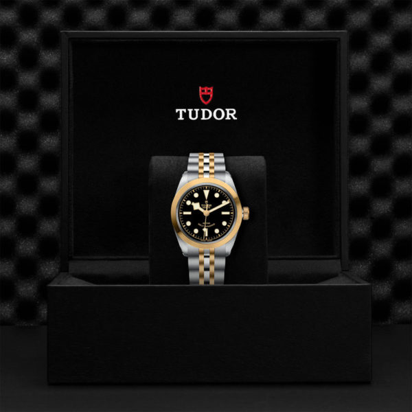 TUDOR Black Bay 36 S&G Watch with 36 mm steel case, steel and gold bracelet. In presentation box.