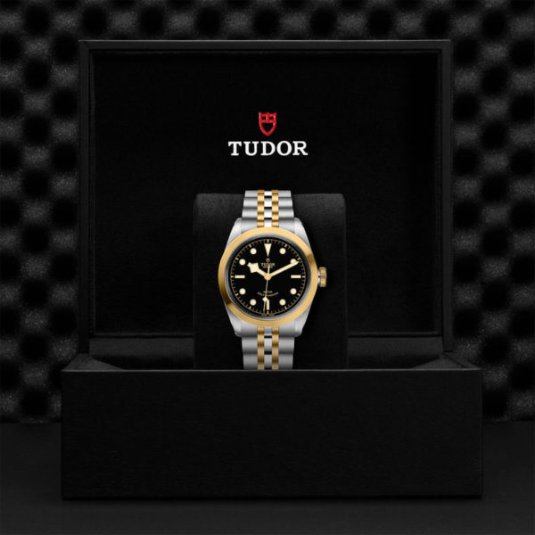 TUDOR Black Bay 41 S&G Watch with 41 mm steel case, steel and gold bracelet. In presentation box.