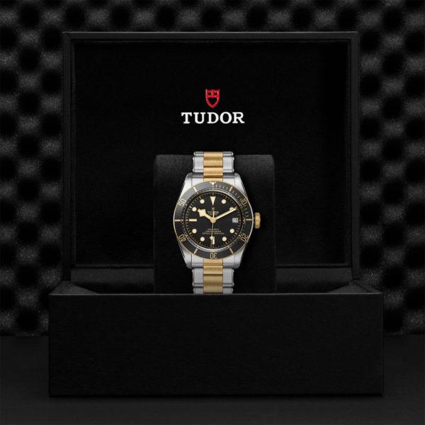 Relógio TUDOR Black Bay S&G com Caixa em aço, 41 mm, bracelete em aço e ouro amarelo. Disposição em caixa de marca.