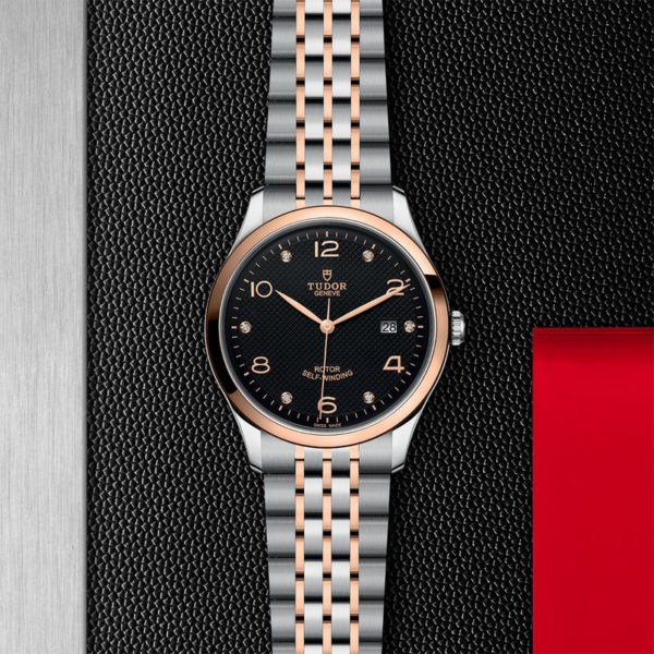 TUDOR 1926 Watch with 41 mm steel case, diamond-set dial. In store flat lay.