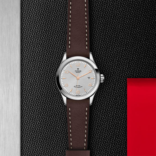 TUDOR 1926 Watch with 28 mm steel case, Silver dial. In store flat lay.