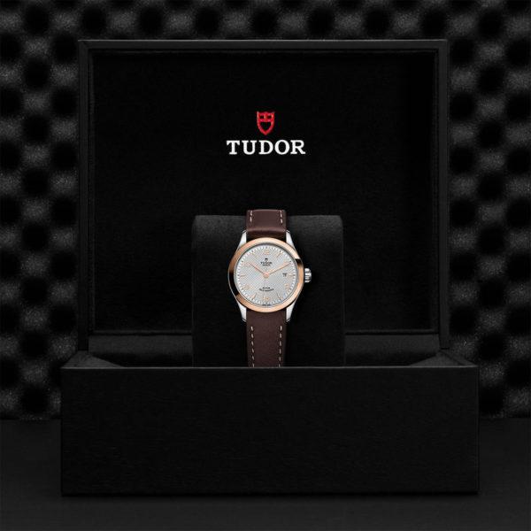 Relógio TUDOR 1926 com Caixa em aço, 28 mm, luneta em ouro rosa. Disposição em caixa de marca.