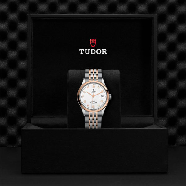 TUDOR 1926 Watch with 36 mm steel case, White diamond-set dial. In presentation box.