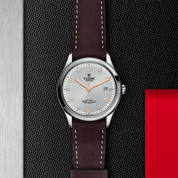 TUDOR 1926 Watch with 39 mm steel case, Diamond-set dial. In store flat lay.