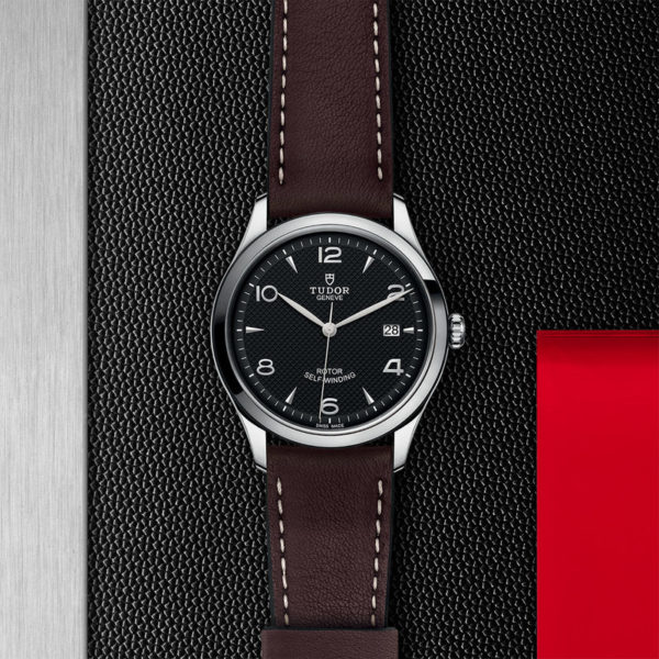 TUDOR 1926 Watch with 39 mm steel case, Black dial. In store flat lay.
