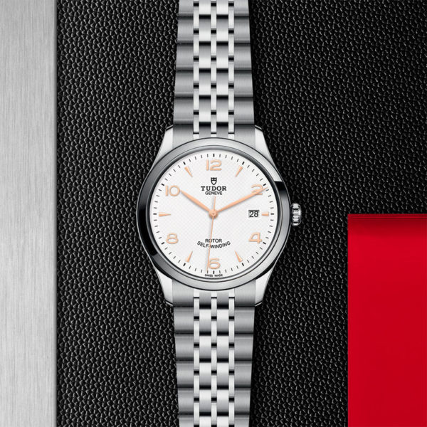 TUDOR 1926 Watch with 39 mm steel case, White dial. In store flat lay.