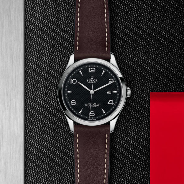TUDOR 1926 Watch with 41 mm steel case, Black dial. In store flat lay.