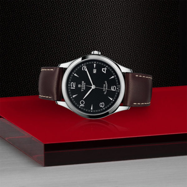 TUDOR 1926 Watch with 41 mm steel case, Black dial. In store laying down.