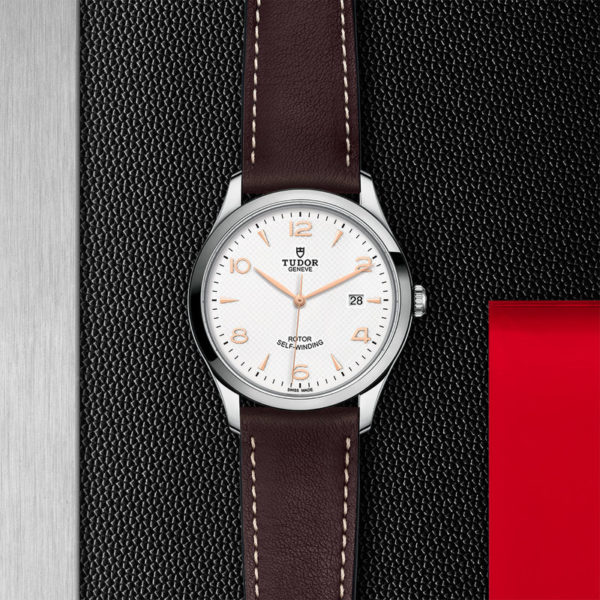TUDOR 1926 Watch with 41 mm steel case, White dial. In store flat lay.